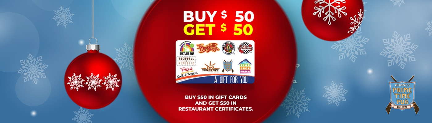 boones prime time pub gift card promotion